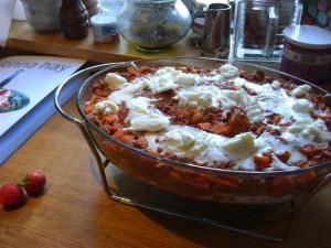 Lasange mit Zuccini, Möhren Bolognese